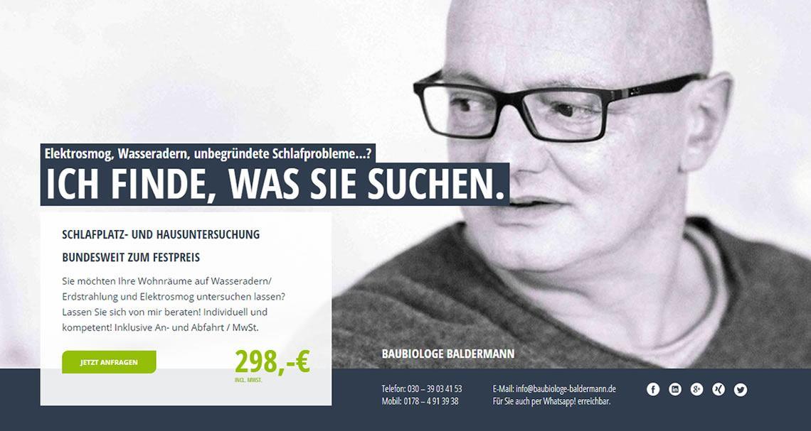 Baubiologe in Saarlouis - Baubiologie Baldermann: Wünschelrutengänger, Schlafstörungen Hilfe, Schlafplatzuntersuchungen, Wasseradern, Elektrosmog